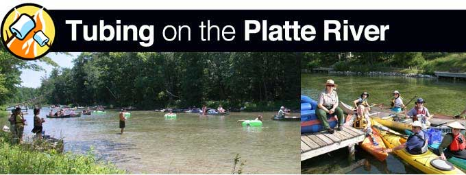 Tubing on platt river for Platte river michigan fishing